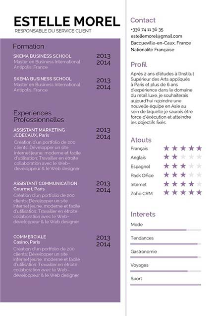 cv experience extra professionnelle ou