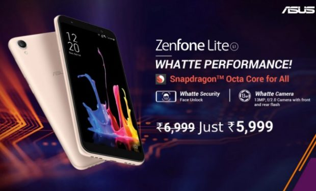 Asus ZenFone Lite L1 The Cheapest Smartphone to get Snapdragon Octa-Core Processor at just Rs 5,999