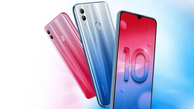 Honor 10 Lite Launched with Premium design and Waterdrop notch, sports a 24MP selfie camera
