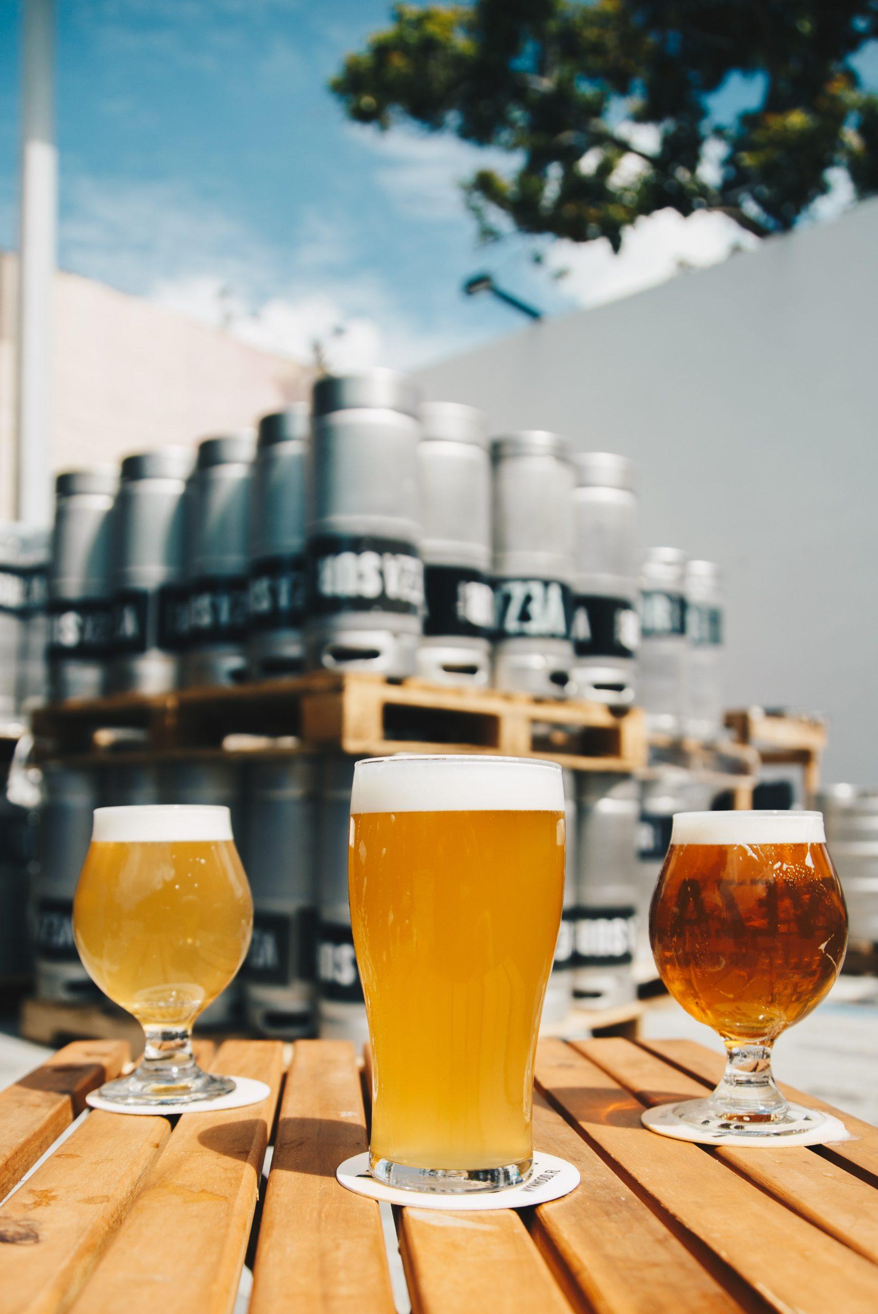 Différentes bières alsaciennes