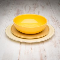 Handmade Yellow Tuscan Dinnerware Set