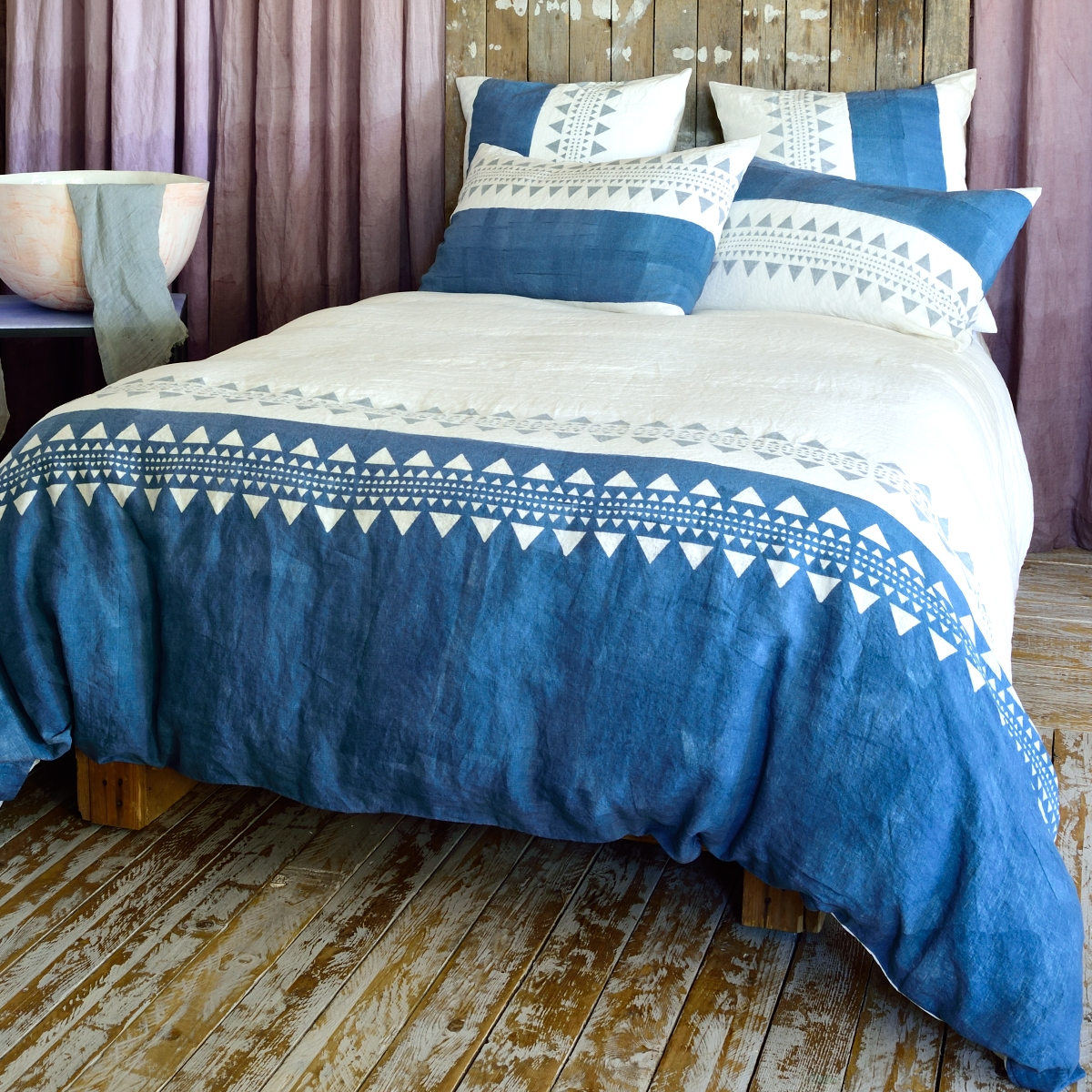 Contemporary Bedding Sets Geo Hand Painted