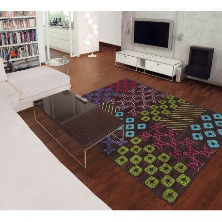 tapis bambou arte espina pour salon marron pattern book