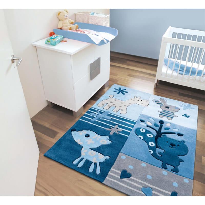 Tapis bleu pour chambre de bb Tipoo Kids Arte Espina