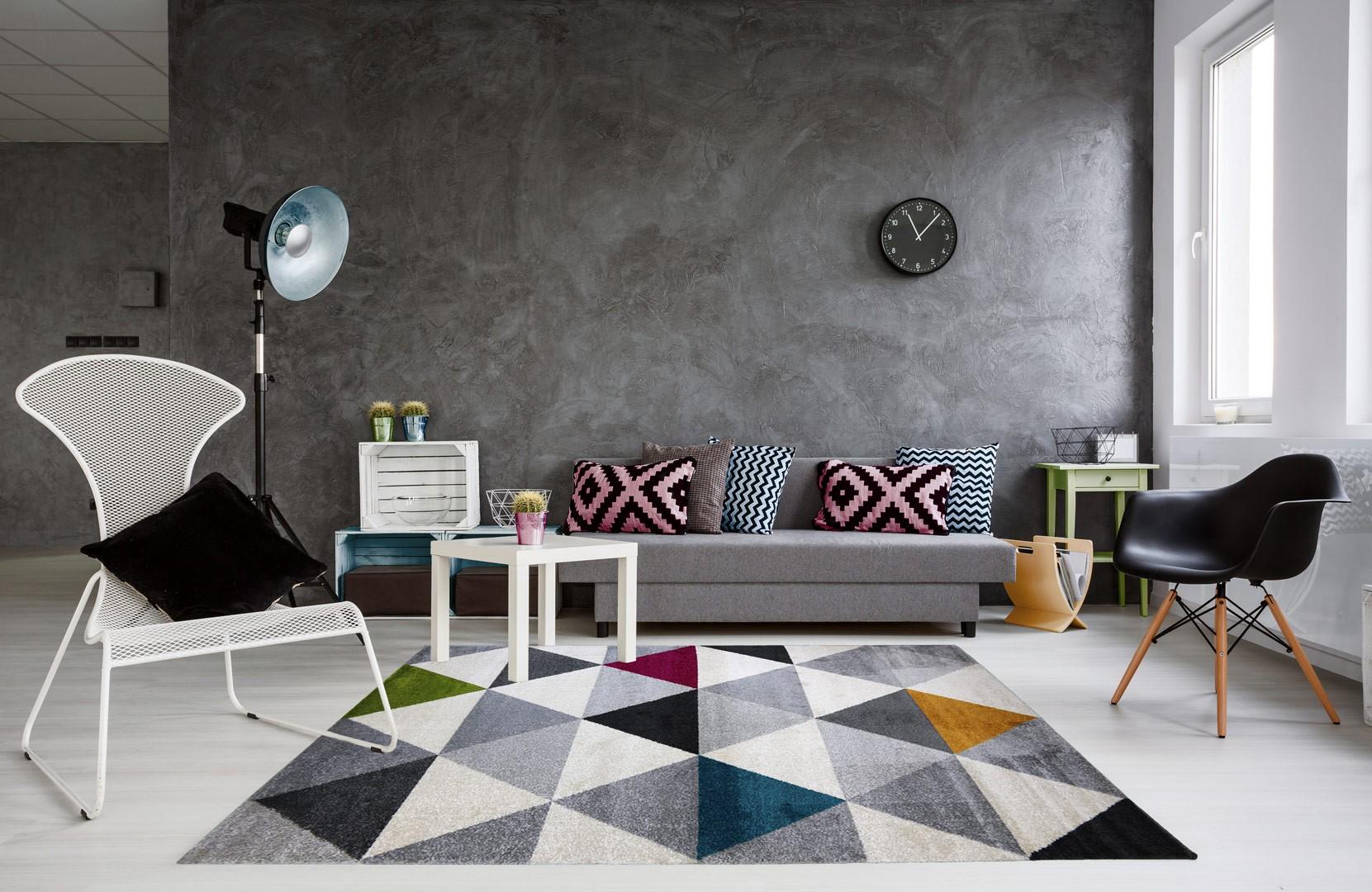 Tapis Salon Style Industriel - Décoration de maison idées de design ...