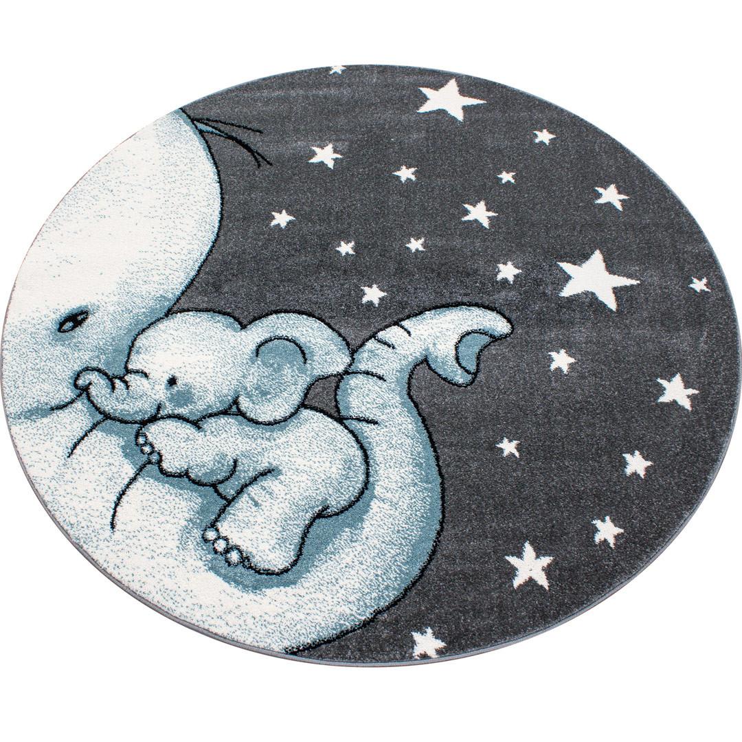 tapis rond pour chambre enfant elephant zoupiou