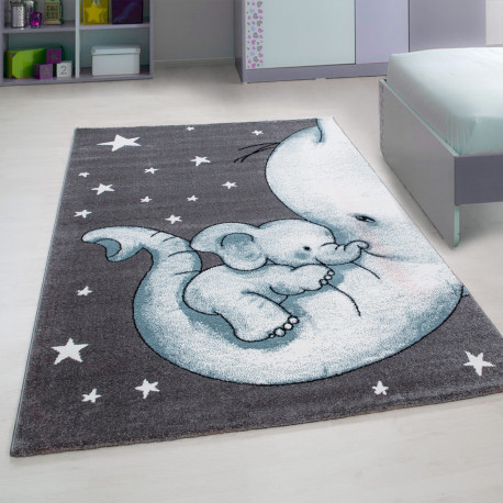 tapis rectangle pour chambre enfant elephant zoupiou