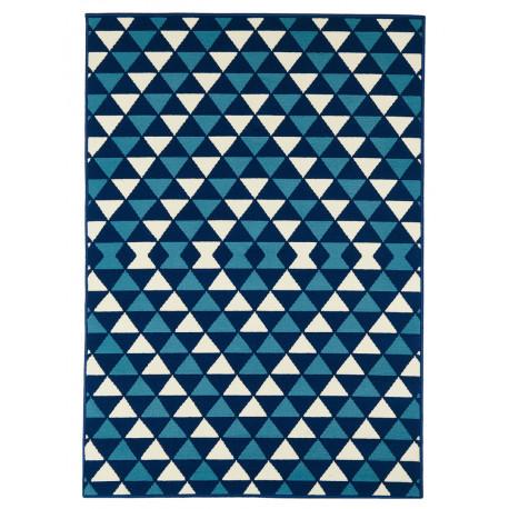 tapis d exterieur et d interieur scandinave bleu marine messine