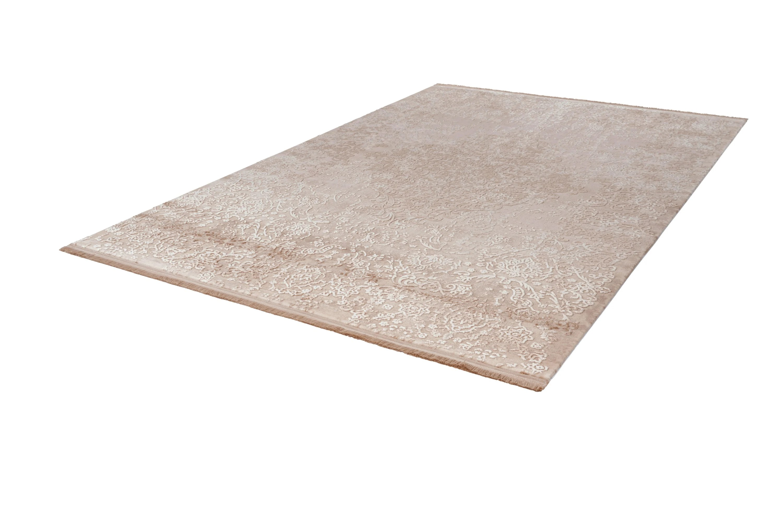 tapis avec franges en acrylique pour salon baroque vendome
