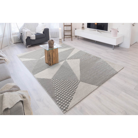 tapis graphique pour salon moderne en