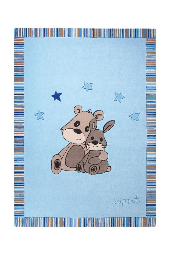 Tapis pour chambre de bb bleu Little Best Friends par Esprit Home