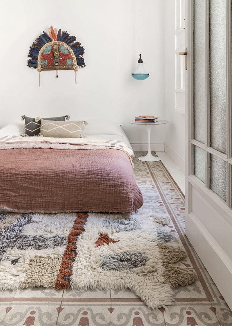 tapis beige ethnique