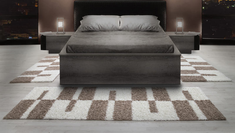 tapis shaggy design