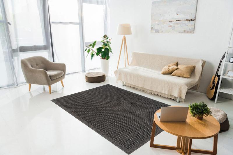 tapis plat gris