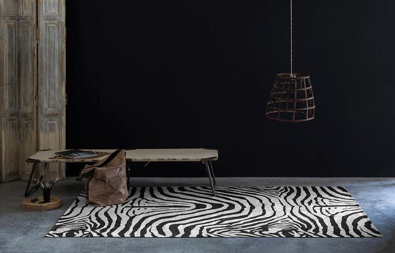tapis zèbre plat