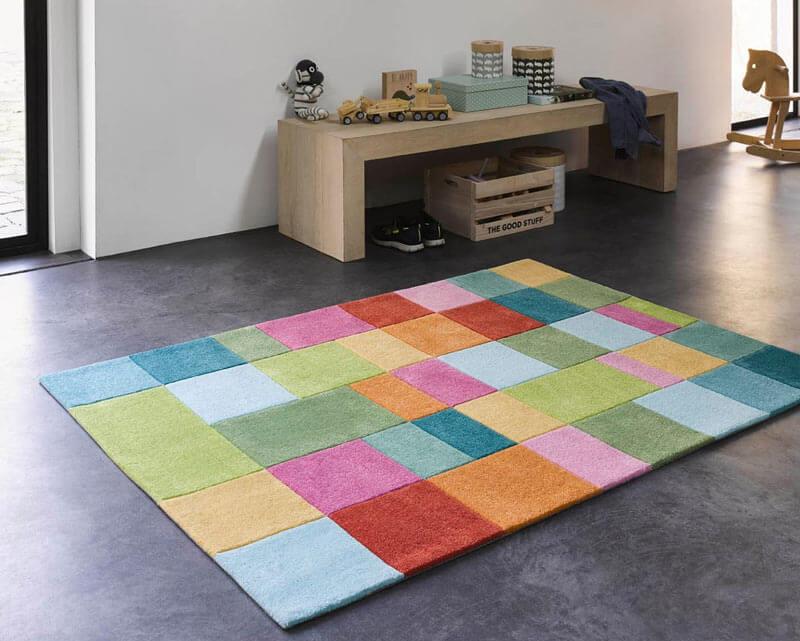 tapis de chambre enfant multicolore