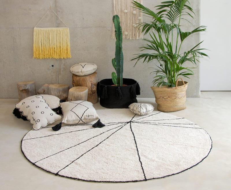 tapis rond géométrique