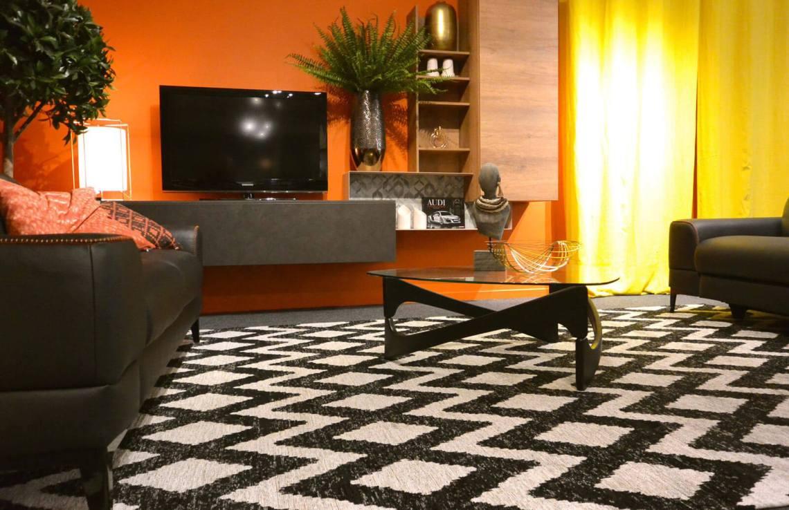 tapis géométrique plat
