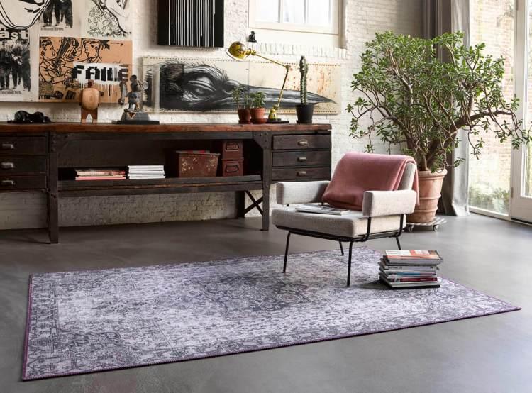 tapis de salon vintage