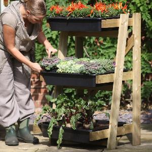Ladder Vegetable Garden With Pvc Cover From Patio Growing