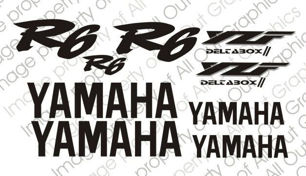 All Out Graphics Yamaha R6 Decals