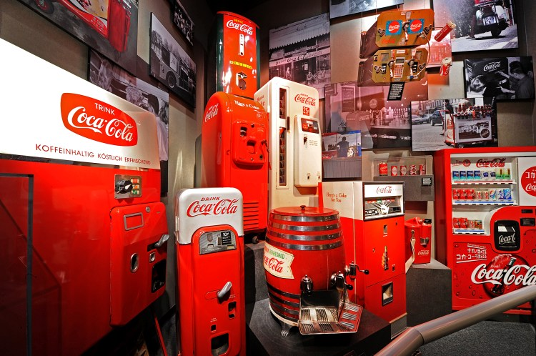 vintage vending machines at the world of coca-cola