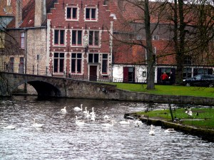 boat tour in Bruges with kids