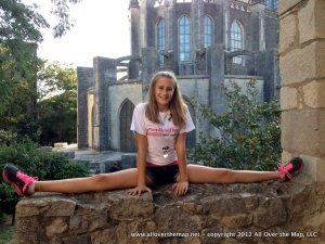 Doing the splits in Girona