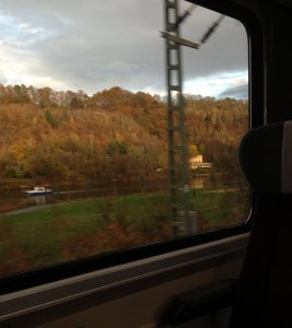 Traveling by Eurail along the Elbe River