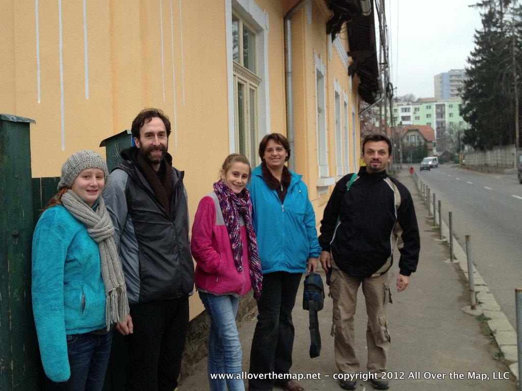 With our Couchsurfing hosts in Romania