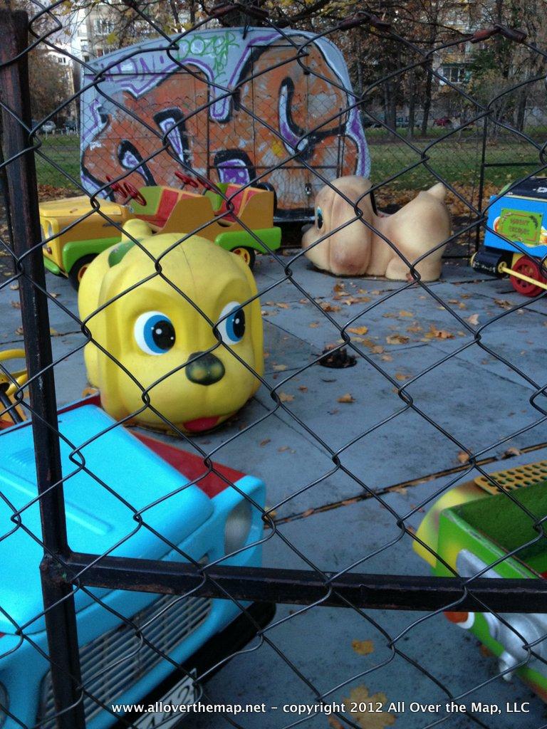 A closed amusement park in Sofia, Bulgaria