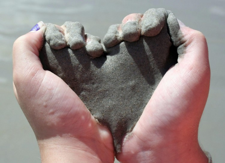1 - Heart Shaped Hands with sand
