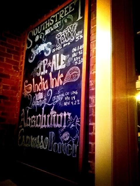 South Street Brewery's beer menu