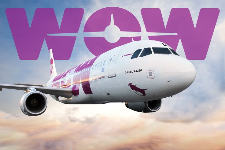 wow air logo and jet