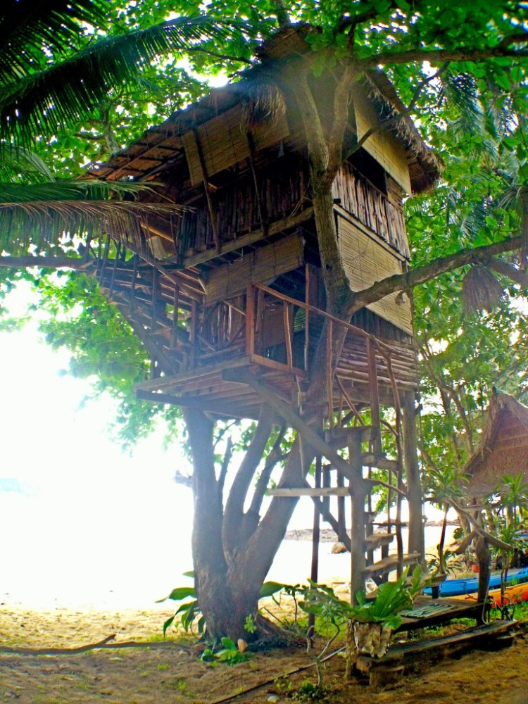 A treehouse at the rustic Freedom resort at the south end of Koh Jum