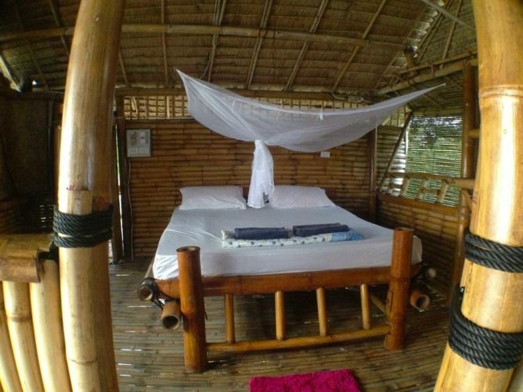 Treehouse bedroom at Freedom, Koh Jum