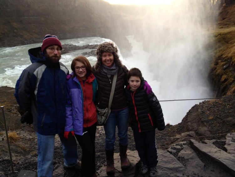 Family photo at Gulfoss - Copy