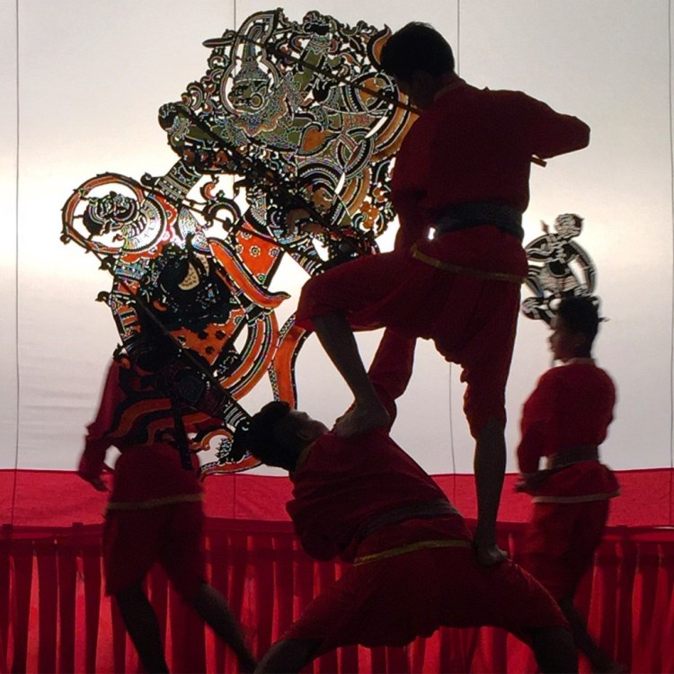 Shadow puppet performance at Wat Khanon