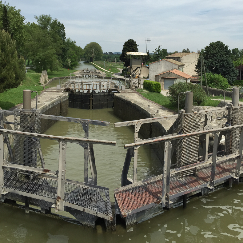 A lock on the Canal du Midi