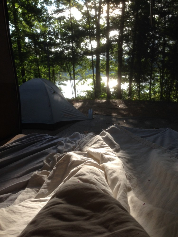 This is the view we woke to at our Clear Creek camp in Alabama on Tuesday