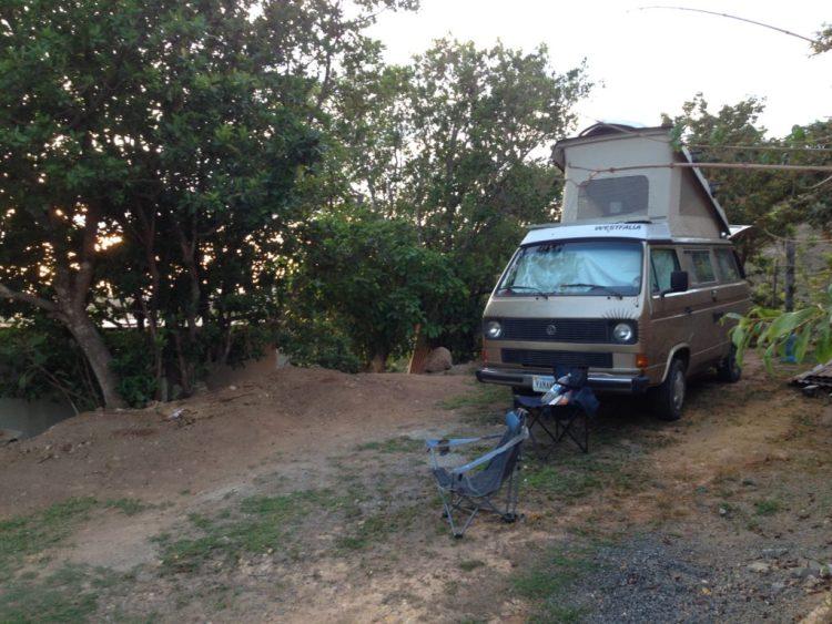 Wesley parked at Hummingbird View