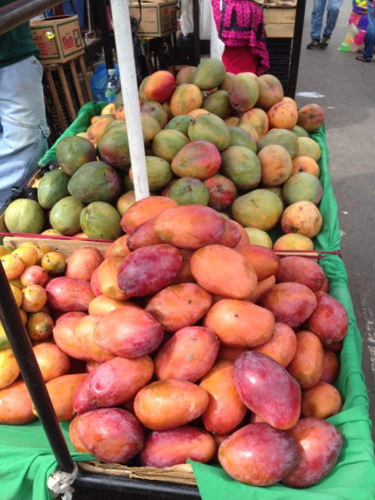 The mangoes were big too. It was nice to see mangoes at market for a change, and not rotting under a tree somewhere.