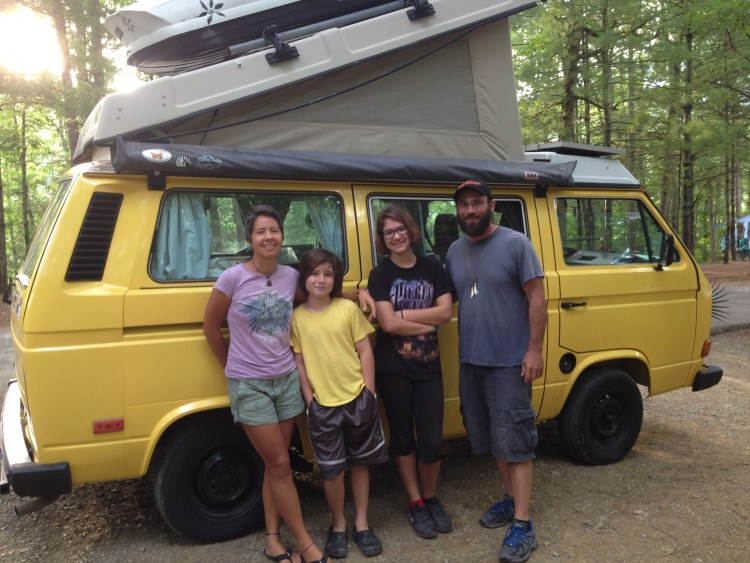 The Vanamos team poses with Wesley in Hungry Mother State Park in Marion, VA. Our final day on the road before returning to Alexandria.