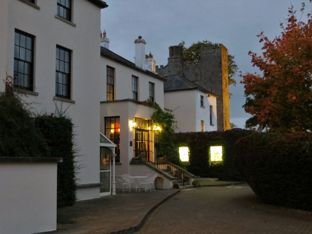 Barberstown Castle Hotel and Country House entrance by night - Castle Hotels in Ireland