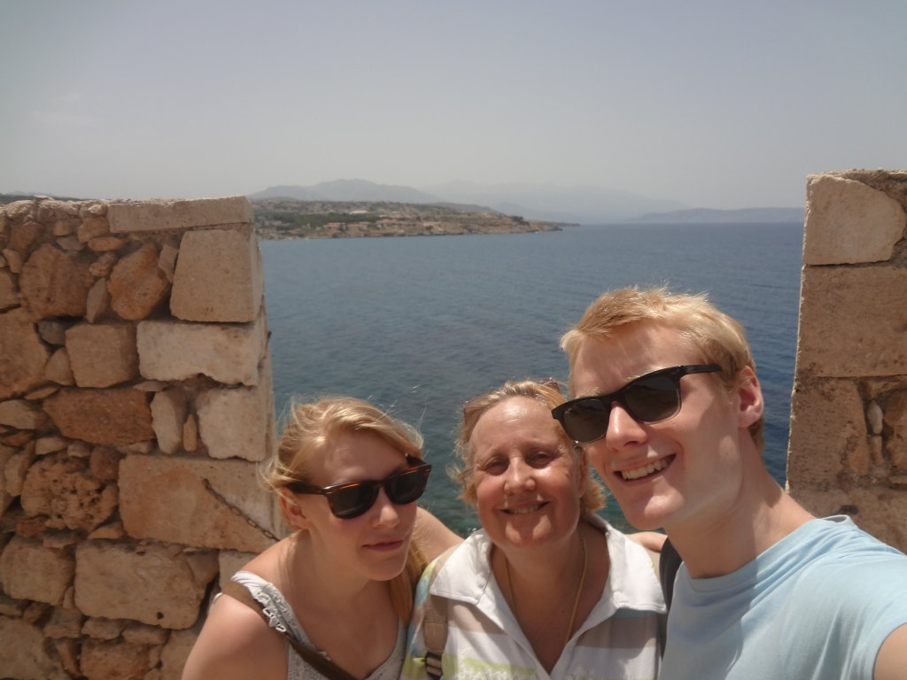 The author's family at the top of Venetian Fortezza
