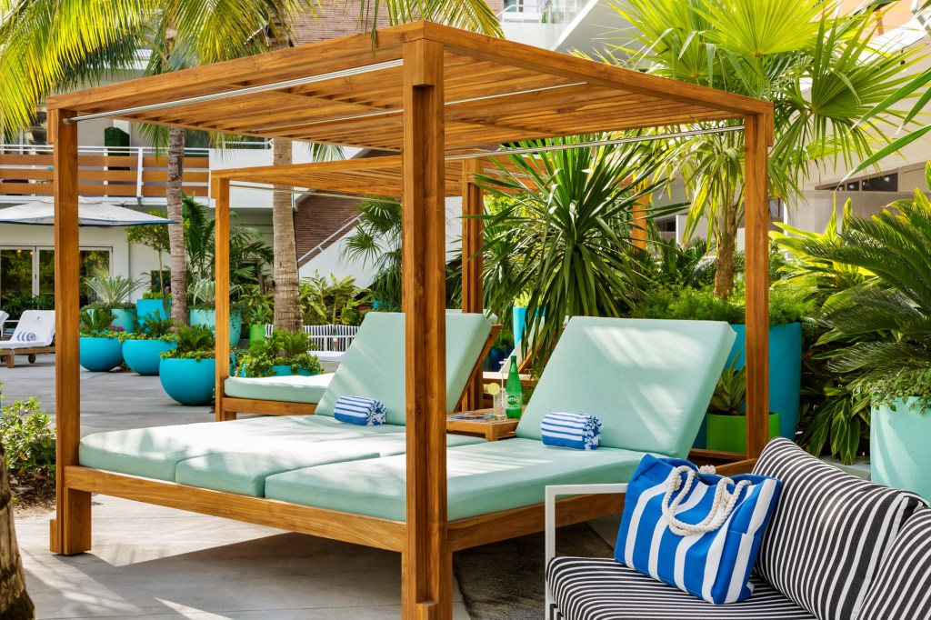 Cabana by the pool at the Gates Hotel South Beach
