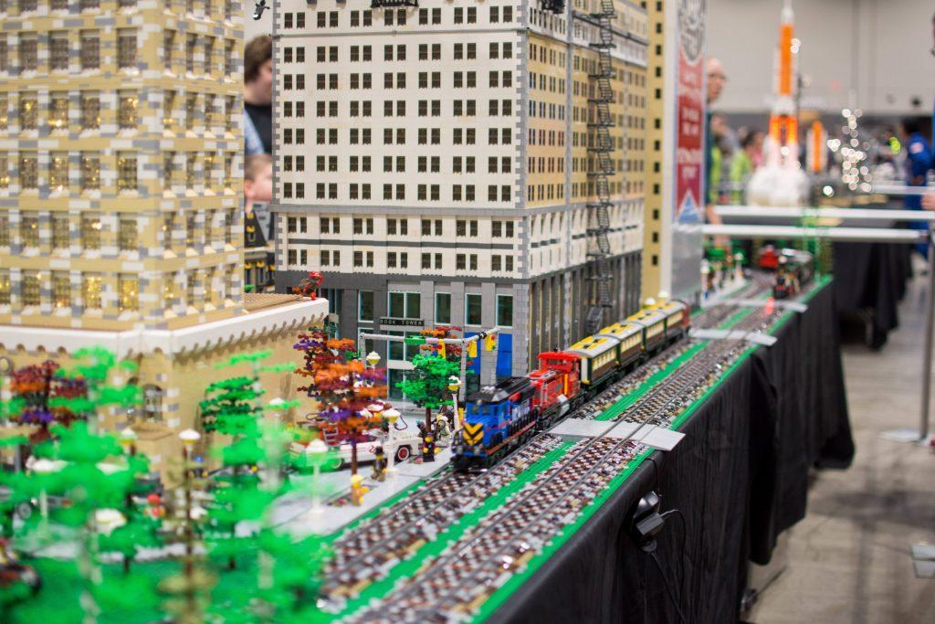LEGO downtown with train - Brickworld Virtual LEGO Con