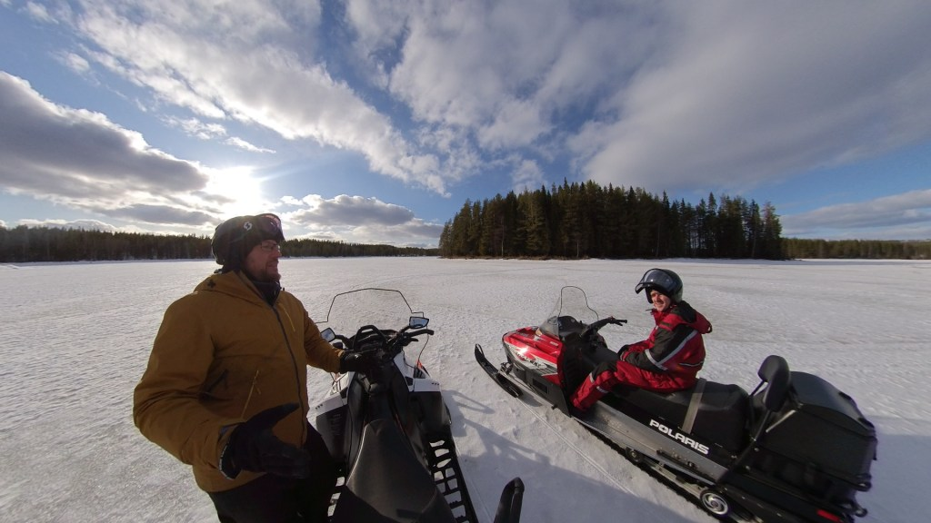 A virtual snowmobile trip to Swedish Lapland from Virtually Visiting