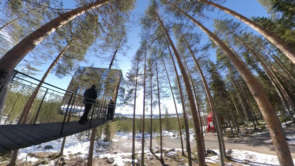 A virtual trip to the Treehotel in Swedish Lapland from Virtually Visiting