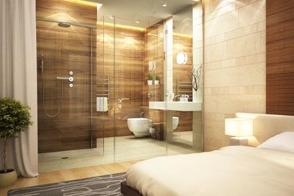 une salle de bain dans la chambre a coucher allovitres le blog deco
